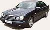 Mercedes E-class W210. Car rental with driver in Moscow.